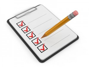 Clipboard Checklist. Image with clipping path